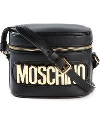 Moschino Logo-Detail Calf-Leather Cross-Body Bag - Lyst