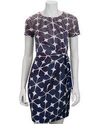 Diane von Furstenberg Zoe Simple Batik-Print Dress blue - Lyst