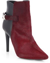 Proenza Schouler Calf Hair & Leather Point-Toe Booties - Lyst