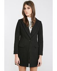 Forever 21 Classic Wool-Blend Overcoat - Lyst