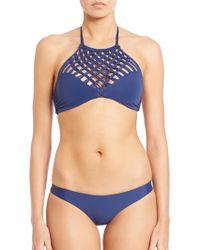 Mikoh Swimwear | Lanikai Halter Bikini Top | Lyst