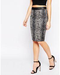 True Decadence - Pencil Skirt In Leopard - Lyst