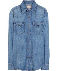 Ralph Lauren Blue Denim Shirt - Lyst