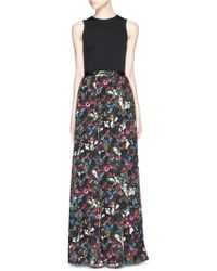 alice + olivia 'Drewcella' Fall Garden Print Maxi Dress multicolor - Lyst