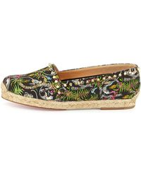 Christian Louboutin Ares Canvas Red Sole Espadrille - Lyst