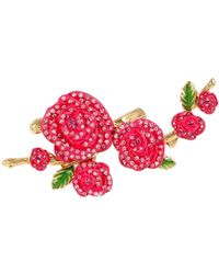 Betsey Johnson - Pave Rose Ring - Lyst