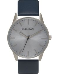 Unknown - The Classic Silver And Navy Watch - Lyst