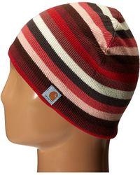 ... promo code for carhartt striped knit hat lyst b679a b5d34 b919a27df5f7
