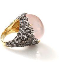 Jemma Wynne - Cabochon Rose Quartz Ring - Lyst