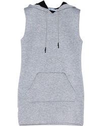 T By Alexander Wang Scuba Neoprene Hooded Dress - Lyst