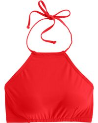 J.Crew Crop Halter Bikini Top red - Lyst