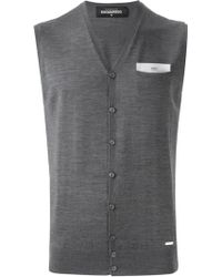 DSquared2 Sleeveless Cardigan - Lyst