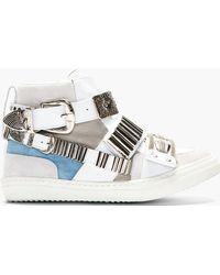 Toga Pulla - White Carved Hardware High-Top Sneakers - Lyst