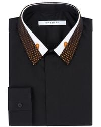 Givenchy Contrast Collar Shirt - Lyst