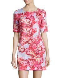 Cynthia Steffe Sebella Peony-Print Shift Dress multicolor - Lyst