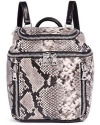 Ash | 'harper' Mini Snake Embossed Leather Backpack | Lyst