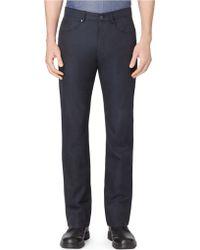 Calvin Klein Yarn Dye Herringbone Slim Leg Pants - Lyst