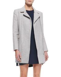 Rebecca Minkoff Finley Asymmetriczip Colorblock Coat Heather Grey Small - Lyst