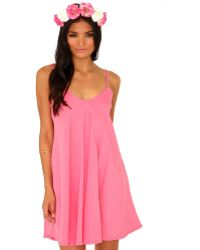 Missguided Dayla Oversized Swing Dress in Coral - Lyst