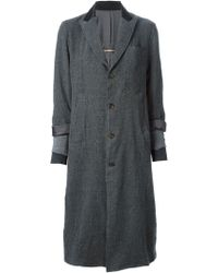 Undercover Gray Distressed Overcoat - Lyst
