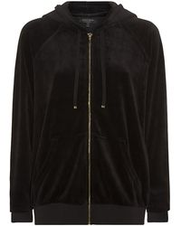 Juicy Couture Velour Relaxed Logo Hoodie - Lyst