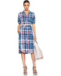 Current/Elliott Long Shirt Dress - Lyst