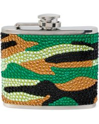 Betsey Johnson Silver-tone Camouflage Pavé Flask - Lyst