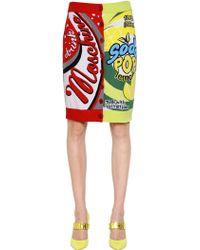 Moschino Soda Intarsia Wool Pencil Skirt - Lyst