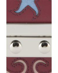 Holly Fulton - X Petek 1855 Burgundy & Pink Small Pin Trunk Bag - Lyst