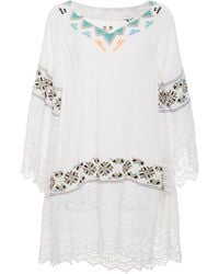 Pia Pauro - Embroidered Lace Tunic - Lyst