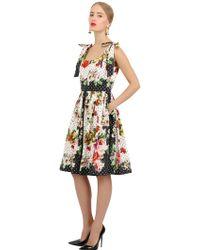 Dolce & Gabbana Printed Cotton Poplin Dress - Lyst