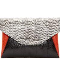 Givenchy Black Snakeskin Antigona Envelope Clutch multicolor - Lyst