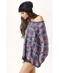 Wildfox Plaid Lenon Sweater - Lyst