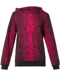Christopher Kane Snakeprint Hooded Sweatshirt - Lyst