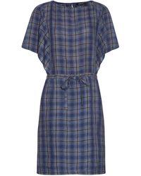 A.P.C. - Kentucky Plaid Linen Dress - Lyst