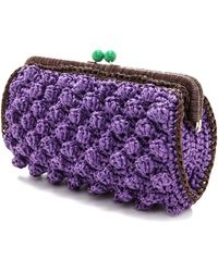 M Missoni - Solid Rafia Clutch - Lyst