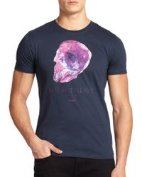 Paul Smith Skull Graphic Cotton Tee - Lyst