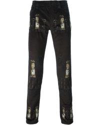 Dolce & Gabbana Castle Print Jeans - Lyst