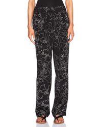 Rag & Bone Printed Loose Fit Trousers black - Lyst