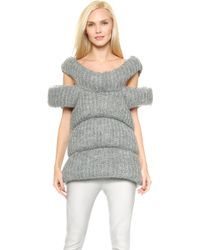 Costume National Wool Vest - Grey - Lyst