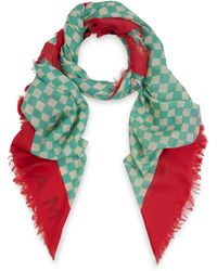 Marc By Marc Jacobs - Aquamarine Clever Check Wool Scarf - Lyst