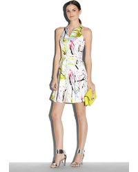 Milly Scribble Print Racerback Dress - Lyst