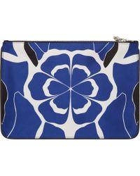 Alexander McQueen Blue Matisse Print Zip Pouch - Lyst