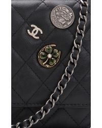 Madison Avenue Couture - Runway Edition Chanel Black Aged Calfskin Lucky Symbol Wallet On Chain (Woc) - Lyst