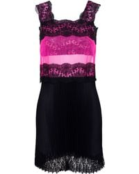 Christopher Kane Lace Dress With Pleated Skirt - Lyst