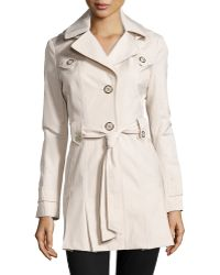 Via Spiga Scarpa Single-Breasted Hooded Trench Coat - Lyst