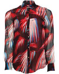 Matthew Williamson Palm Chiffon Silk Shirt - Lyst