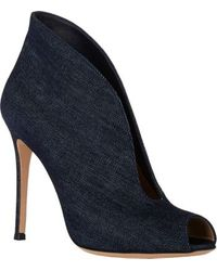 Gianvito Rossi Split-front Ankle Boots - Lyst