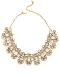 Kate Spade Crystal Arches Necklace Clear Multi - Lyst