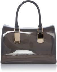 Furla Candy Grey Grab Bag - Lyst
